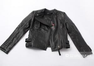 Кожаная женская куртка-косуха