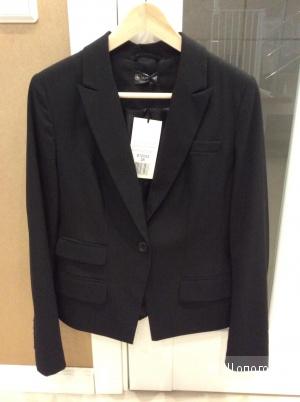 Классический женский чёрный костюмный пиджак Laura Scott р.46