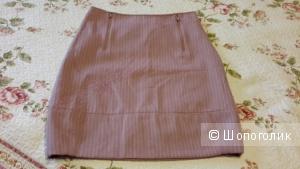 Теплая юбка Sela размер 44 б/у со стрекозой