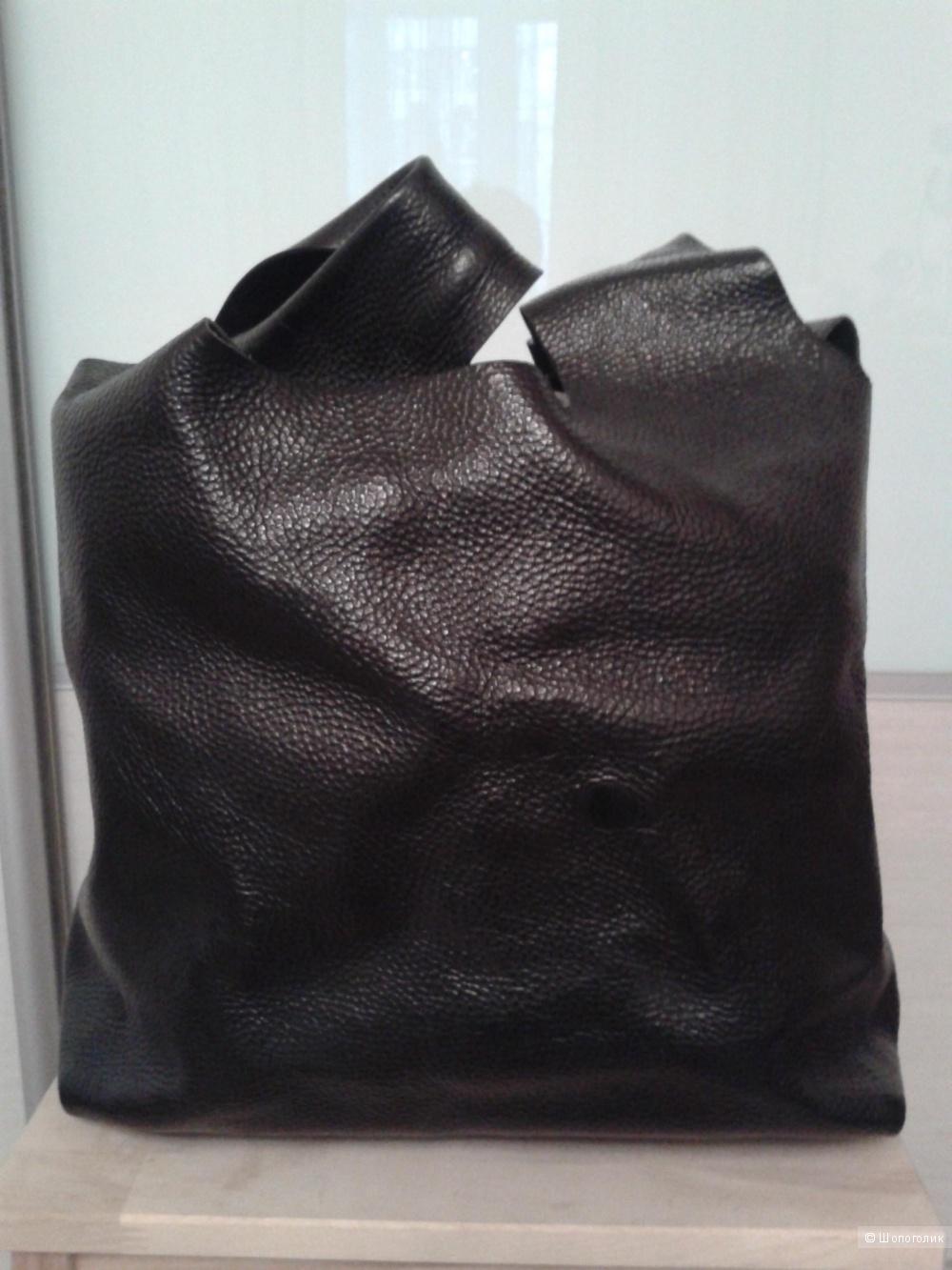 Кожаная сумка-мешок