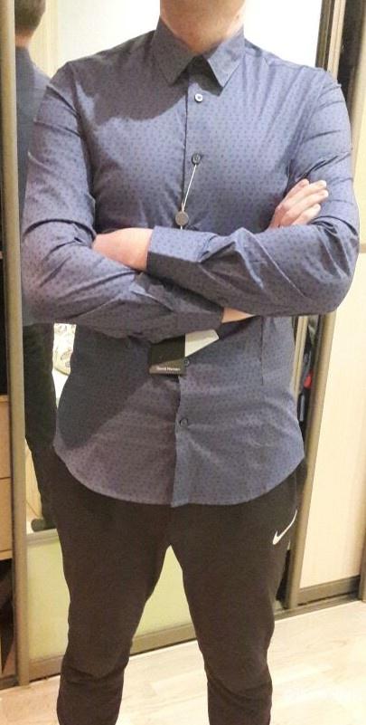 Мужская рубашка Италия David Naman размер l (маломерит)