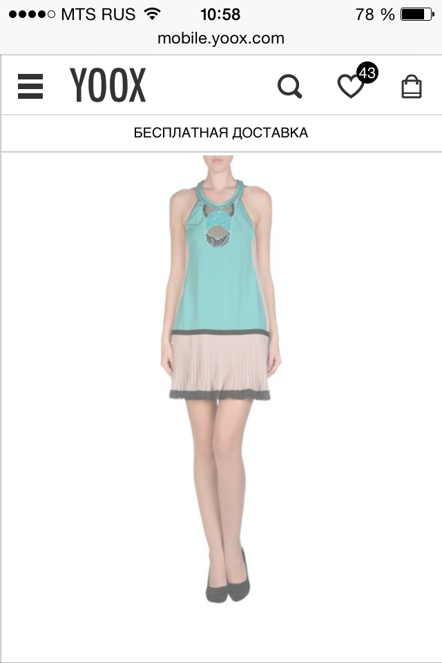 Платье PF PAOLA FRANI, с YOOX, новое, 42 ит размер, расшито украшениями.