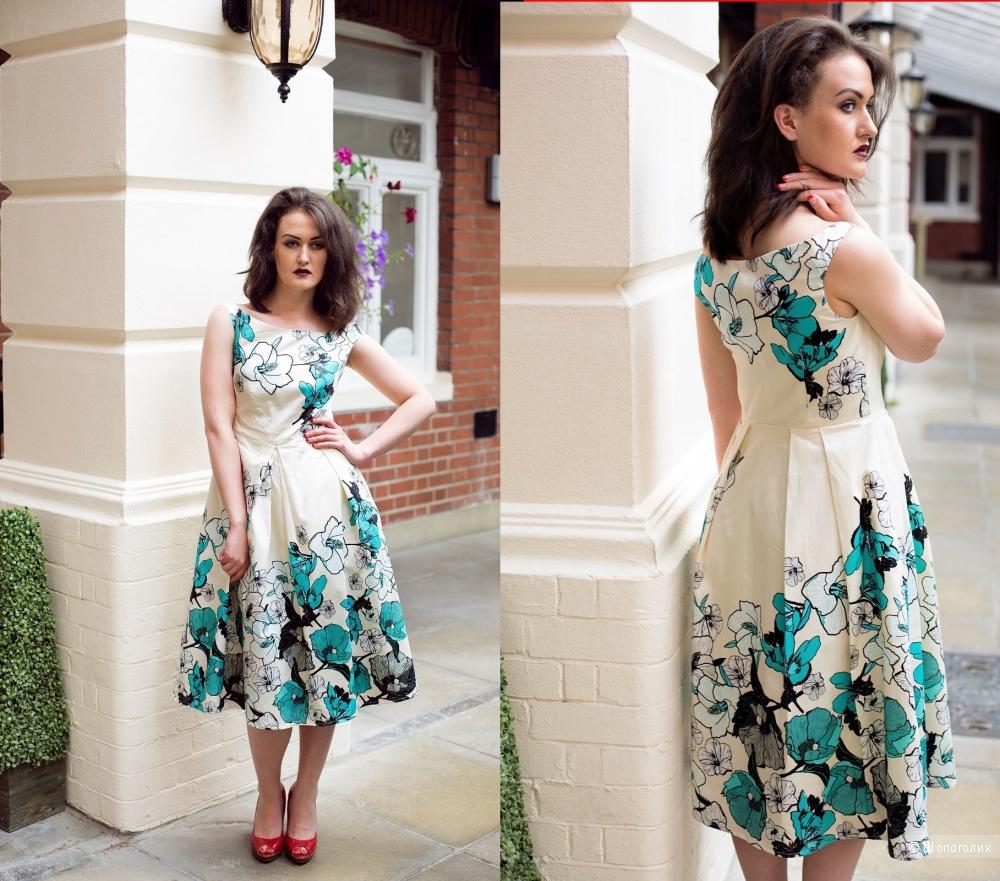 Платьес цветочным принтом ASOS