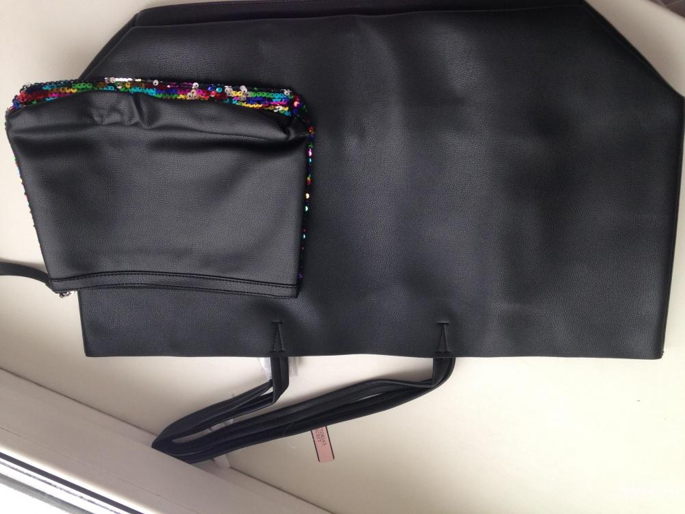 Фирменная сумка-тоут с кометичкой лимитированного выпуска Victoria's Secret