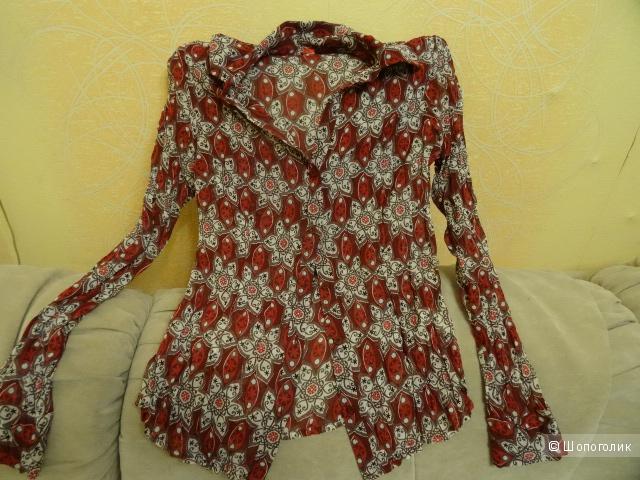 Шифоновая блузка с узорами s.Oliver, размер 42