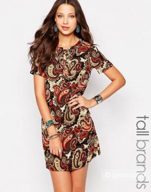 Платье с принтом пейсли и завизками GLamorous tall