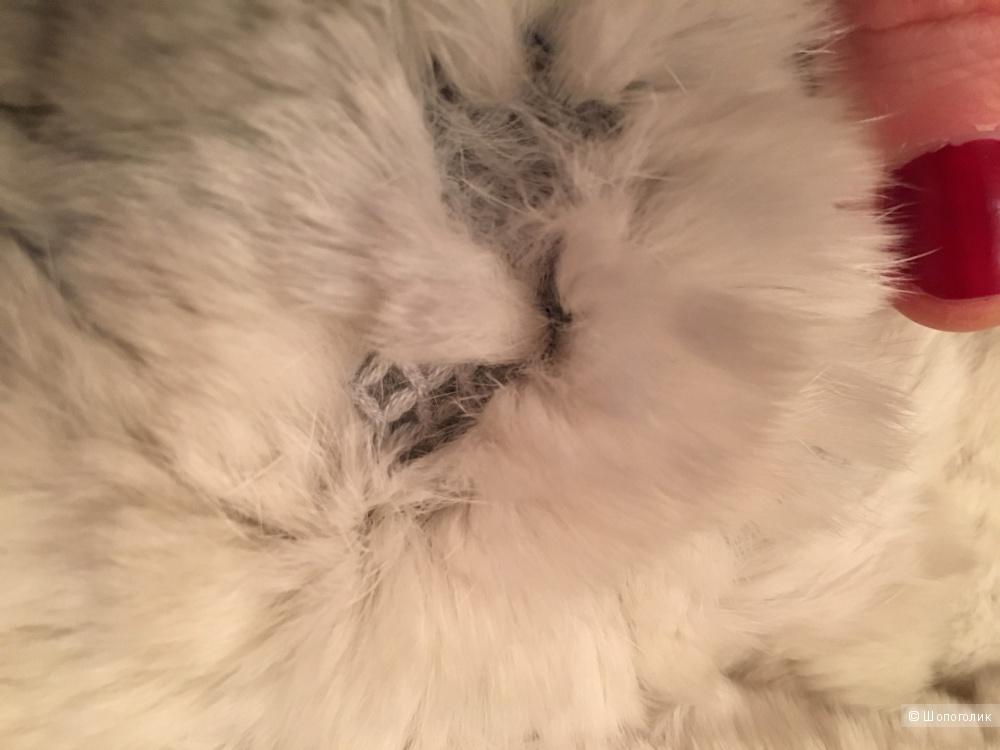 Пончо из натурального меха кролика 44 размер