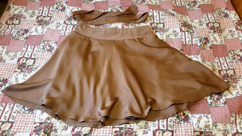 Красивая юбка Benetton коричневая размер S (можно и на М) б/у