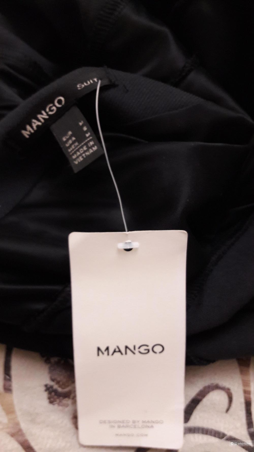 MANGO SUIT, M: платье миди темно-серое