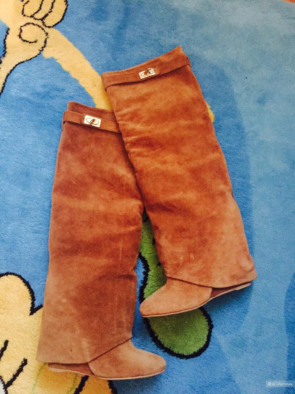 Замшевые сапоги Lesille, размер 38, демисезонные