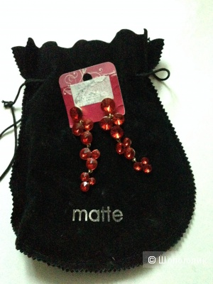 Красивые серьги-грозди от Matte