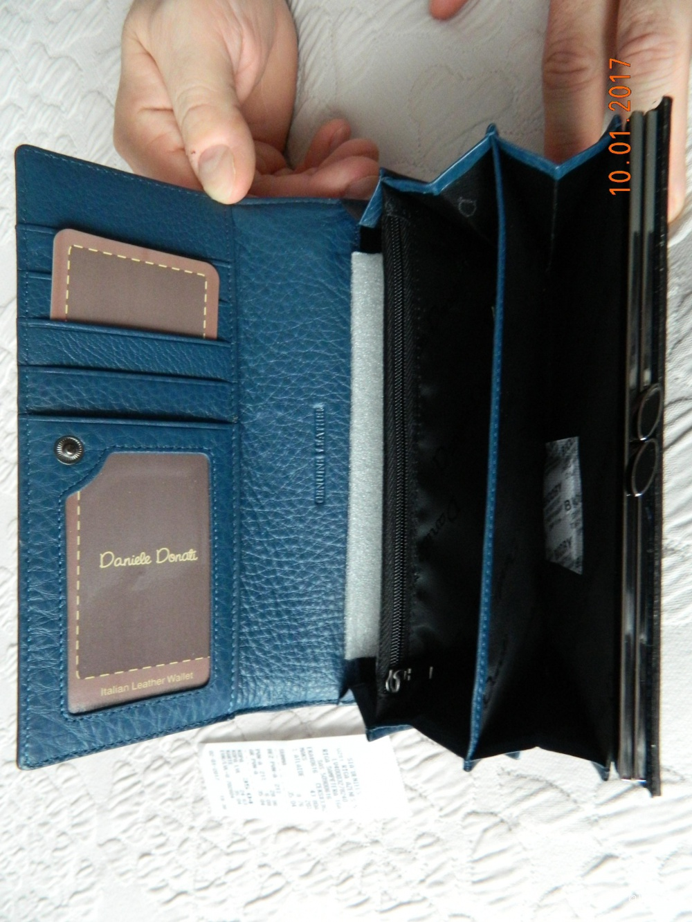 Новый кожаный кошелек Daniele Donati