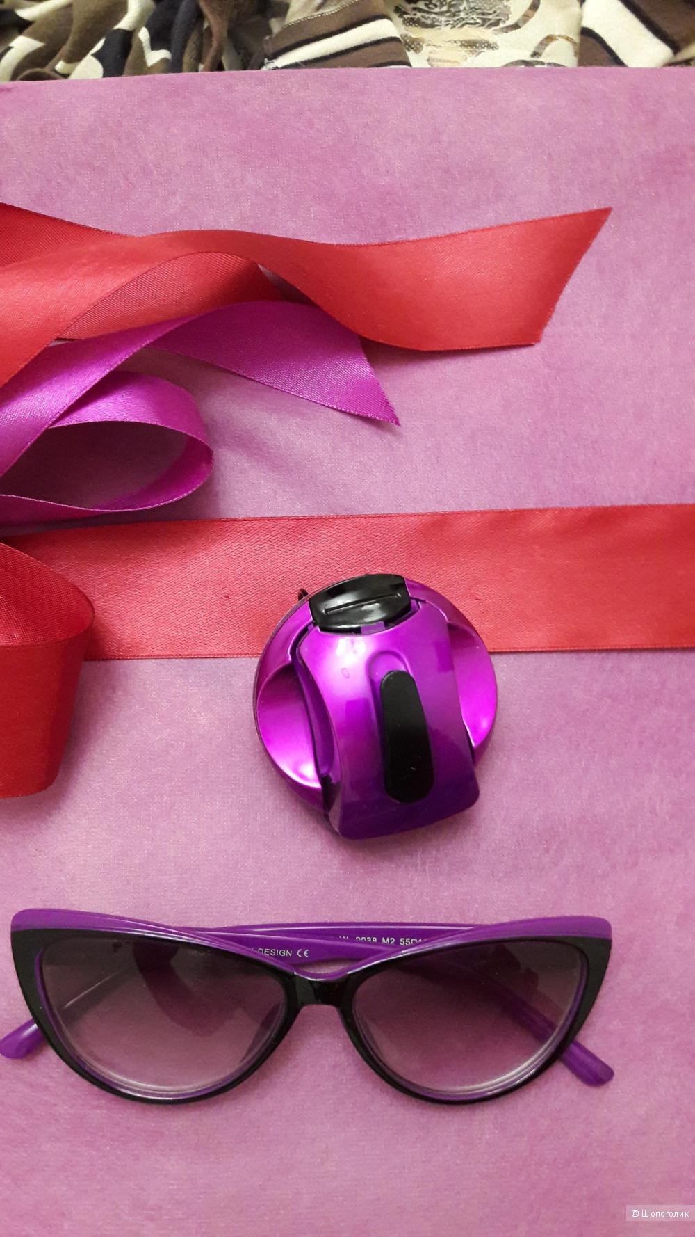 """Очки-хамелеоны типа """"кошачий глаз"""" на -1,5 + подставка в подарок"""