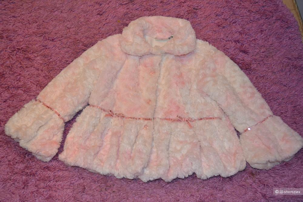 Гламурная шубка от Laura Ashley для леди 4-5 лет