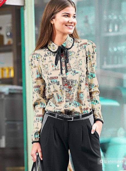 Блуза Y.O.U. с принтом новая оригинал 48 размера