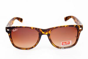 Солнцезащитные очки Ray Ban Wayfarer Brown-Leopard (унисекс),новые