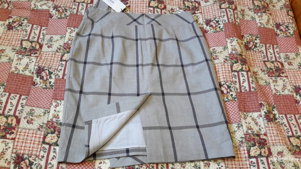 Шикарная юбка M.Reason в клетку по колено размер 48 новая