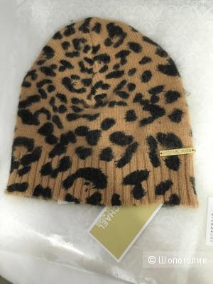 Шерстяная Шапочка Michael Kors леопардовой расцветки