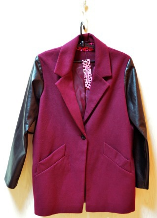 Пальто осеннее бордовое Liquorish новое