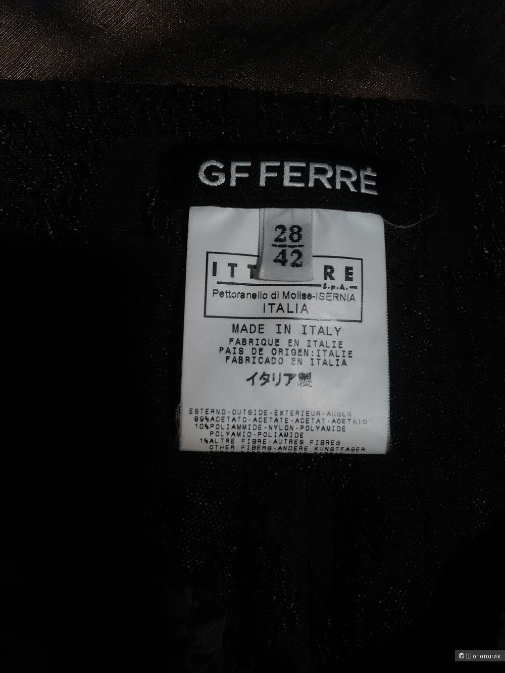 Брюки GF FERRE (Италия), р. 42 IT, коричневые, шелк