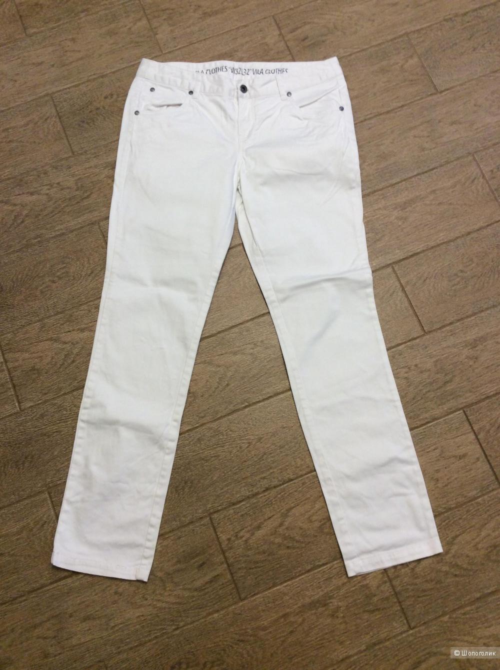 Белые хлопковые брюки VILA р.32/32