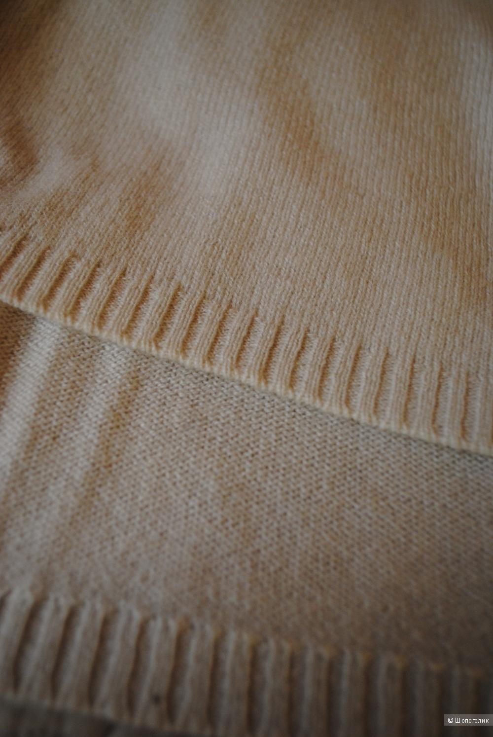 Кашемировый кардиган Soft Grey бежевого цвета 44-46 размер