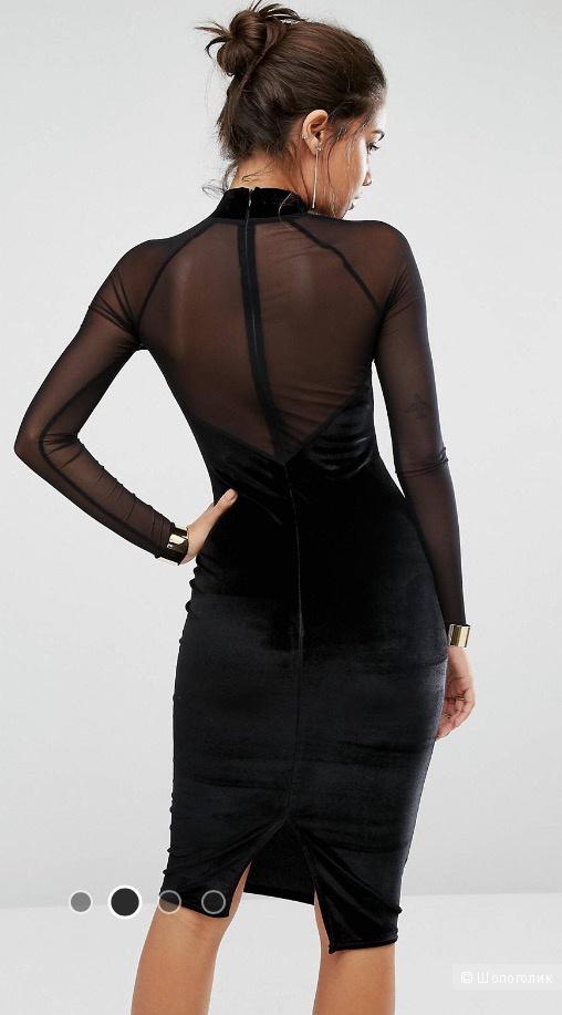 Новое коктейльное бархатное платье, с бирками Missguided