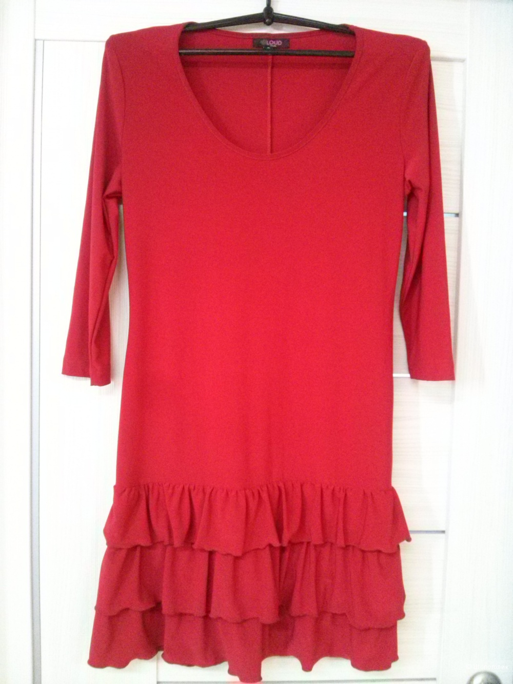 Красное платье -туника, размер S.
