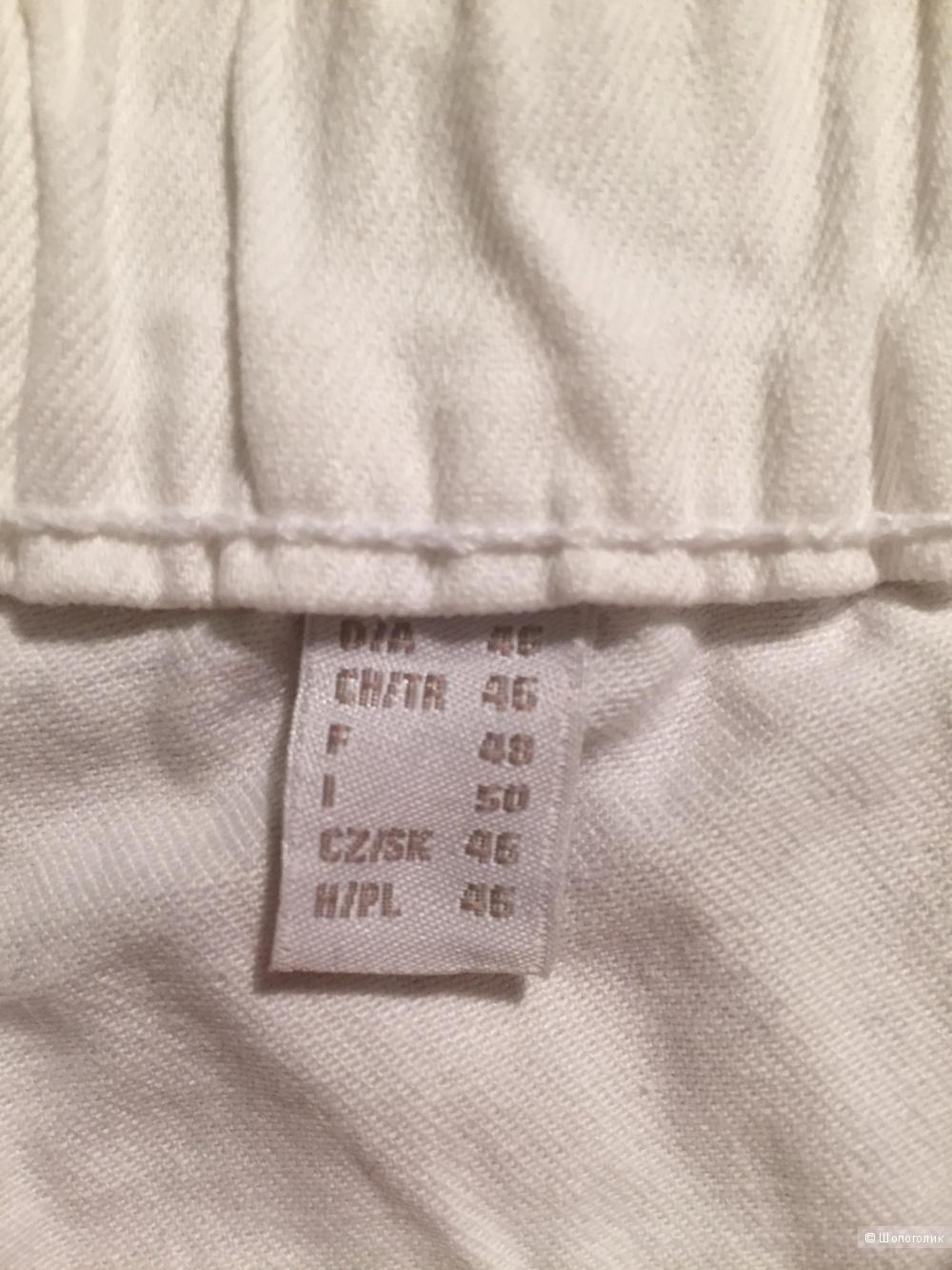 Белые  треггинсы Tchibo, размер 52-54