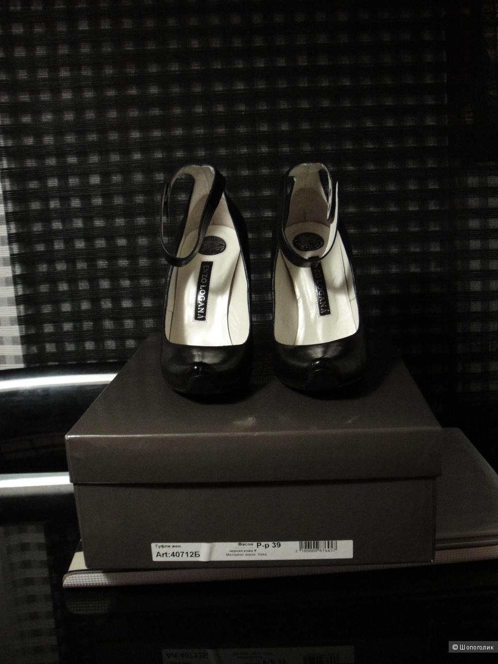 Пристрою черные женские туфли Enzo Logana
