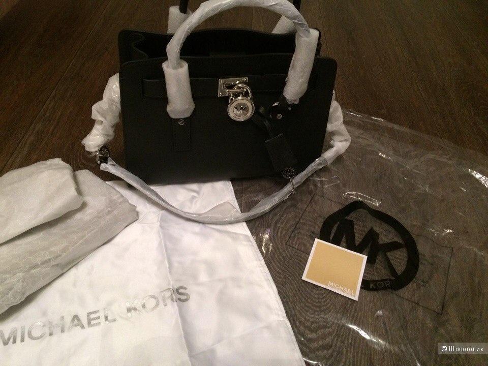 Шикарная сумка  классической модели MICHAEL Michael Kors Hamilton Saffiano Leather Medium Satchel