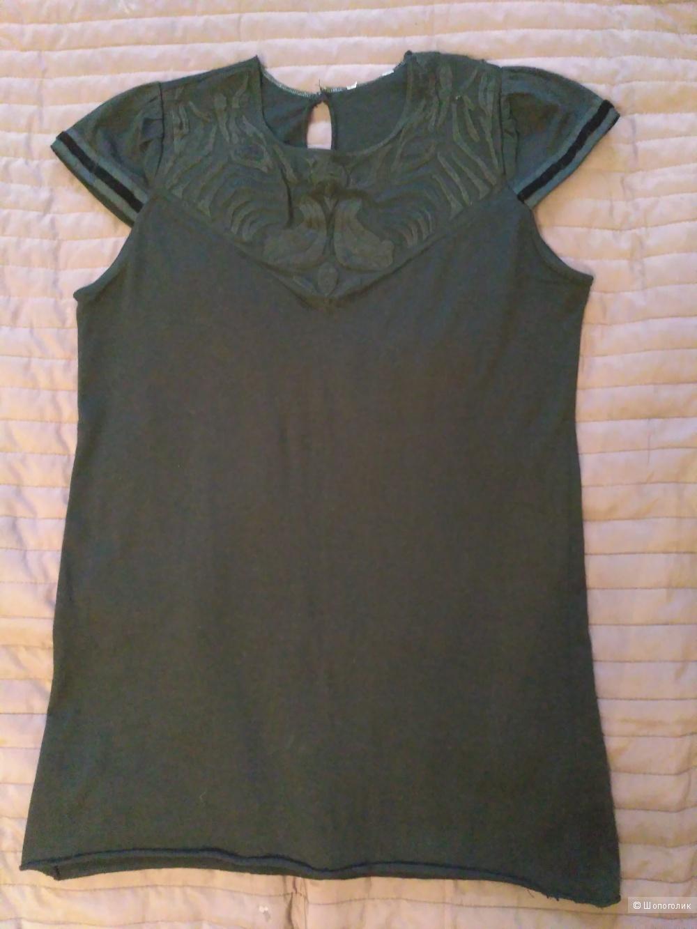 Черная футболка Mango, XS