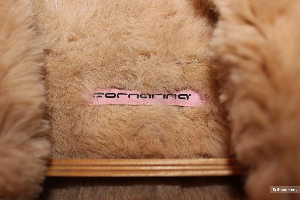 Дубленка итальянского бренда FORNARINA  оригинал,размер L,цвет бежевый