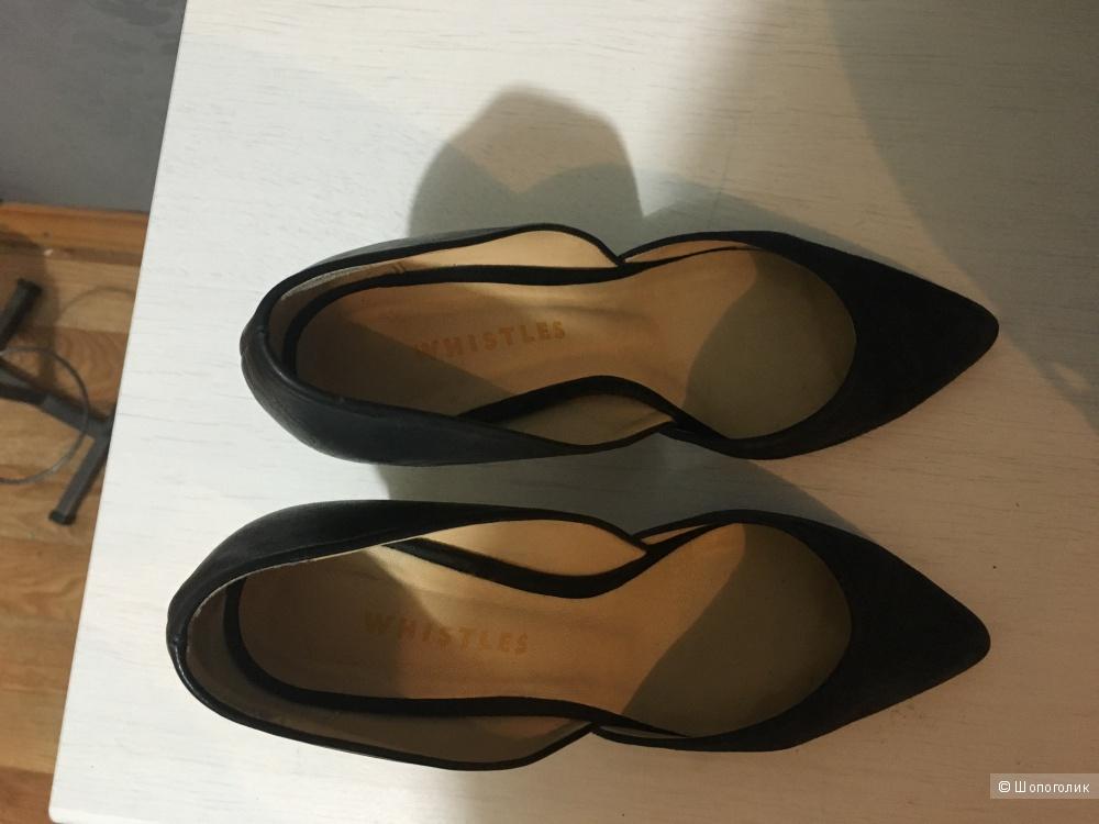 Туфли Whistles Mia, UK 4, кожа+замша.