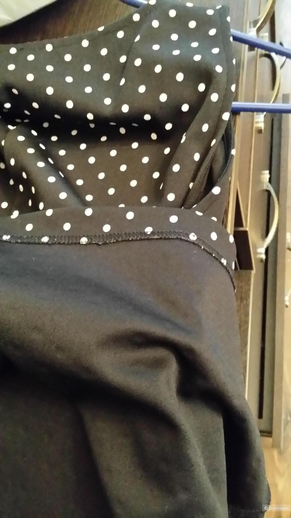 Платье-сарафан H&M в горошек 46-48 размер