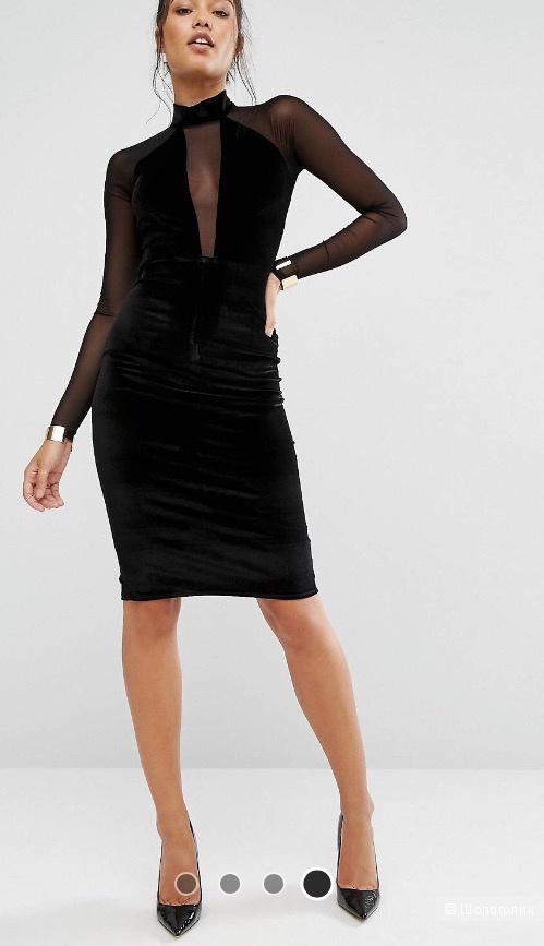 d40c4e3407b Новое коктейльное бархатное платье