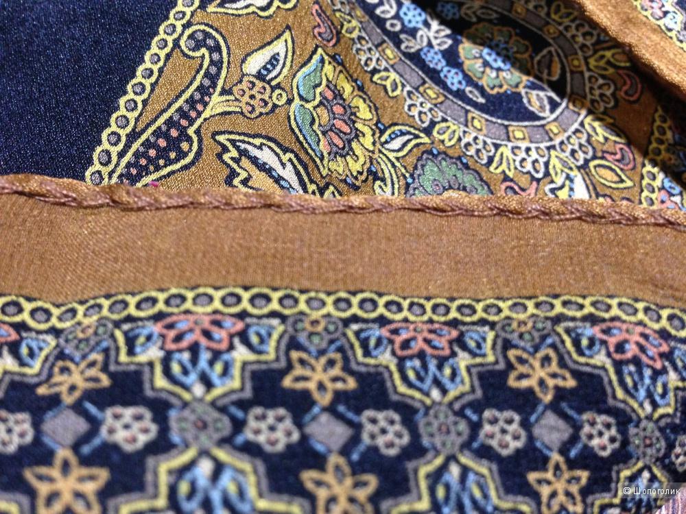 Michele Binda шикарный платок из натурального шелка 90*90 см