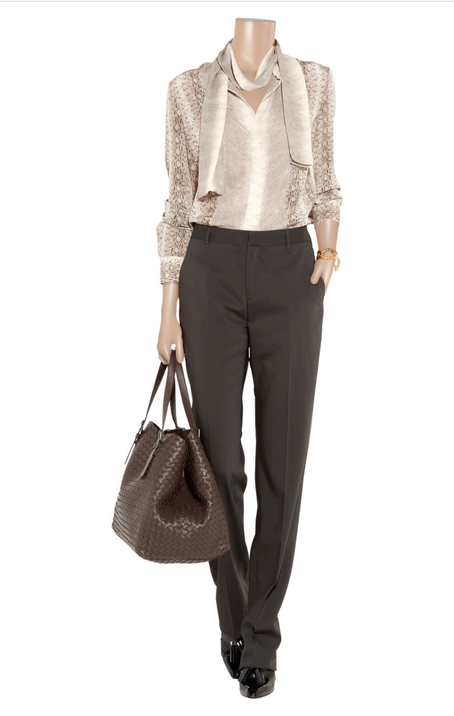Шерстяные темно-серые брюки Calvin Klen Collection размер IT 44