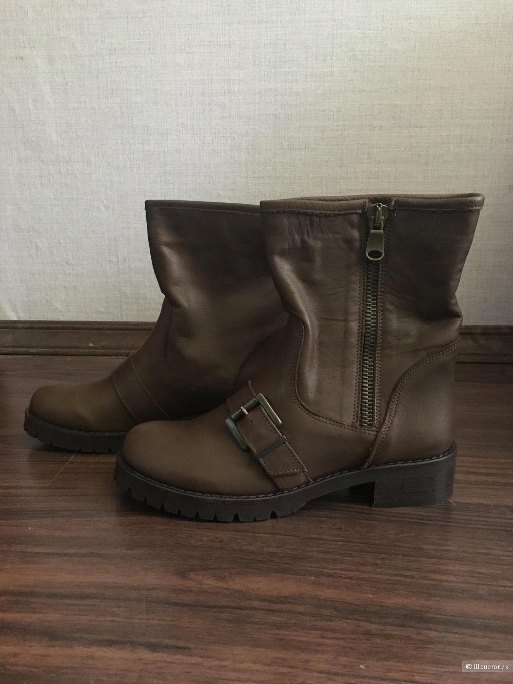 Кожаные высокие ботинки итальянского качества