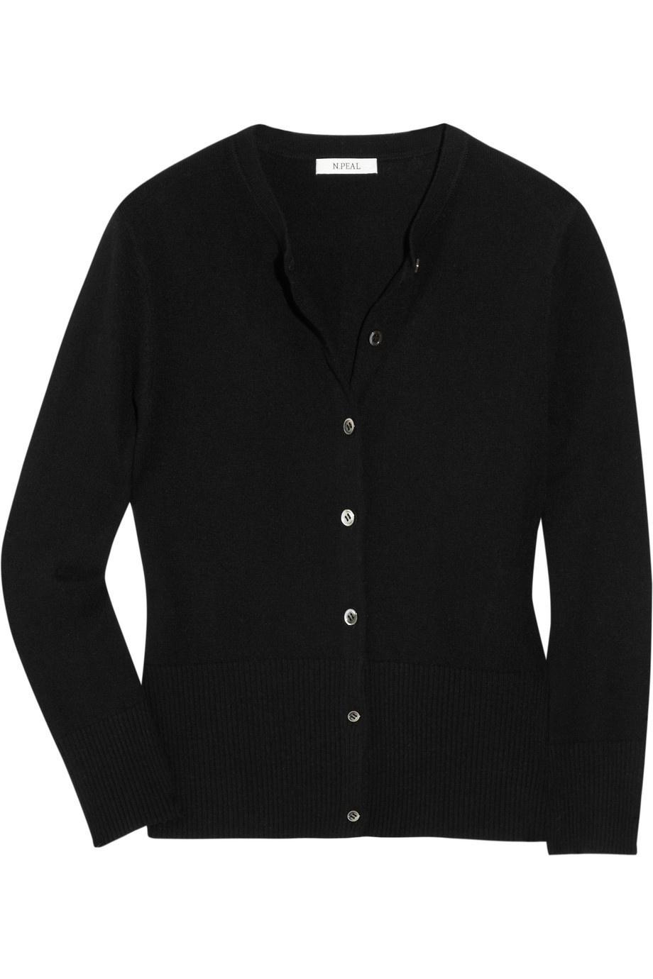 Черный кашемировый кардиган N PEAL CASHMERE размер UK 12