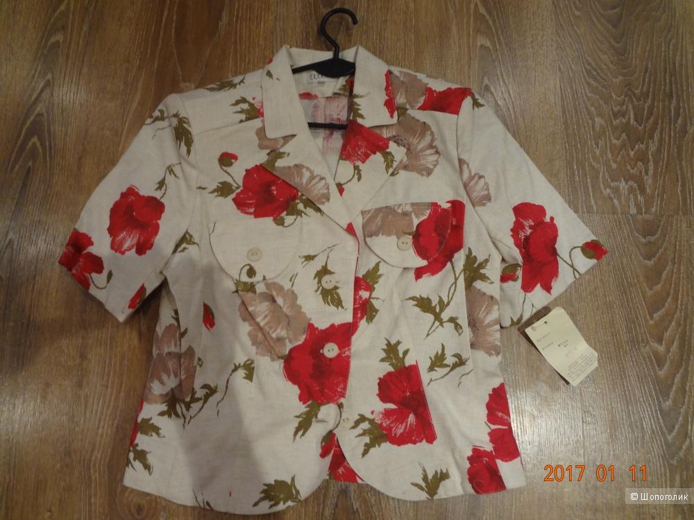 Льняной женский пиджак, 44-46