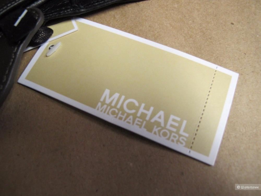 MICHAEL KORS красивые кожаные перчатки с логотипом