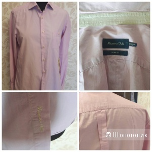 Massimo Dutti: хлопковая  рубашка, унисекс, размераМ