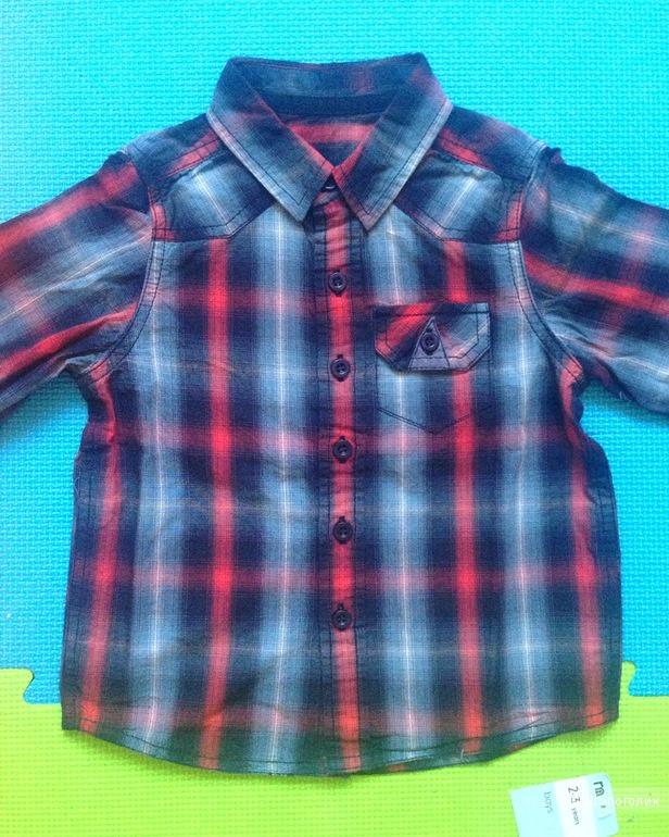 Новая рубашка для мальчика Mothercare р.2-3 г