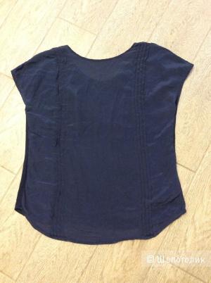 Блузка Massimo Dutti шёлк+хлопок и вискоза р.46