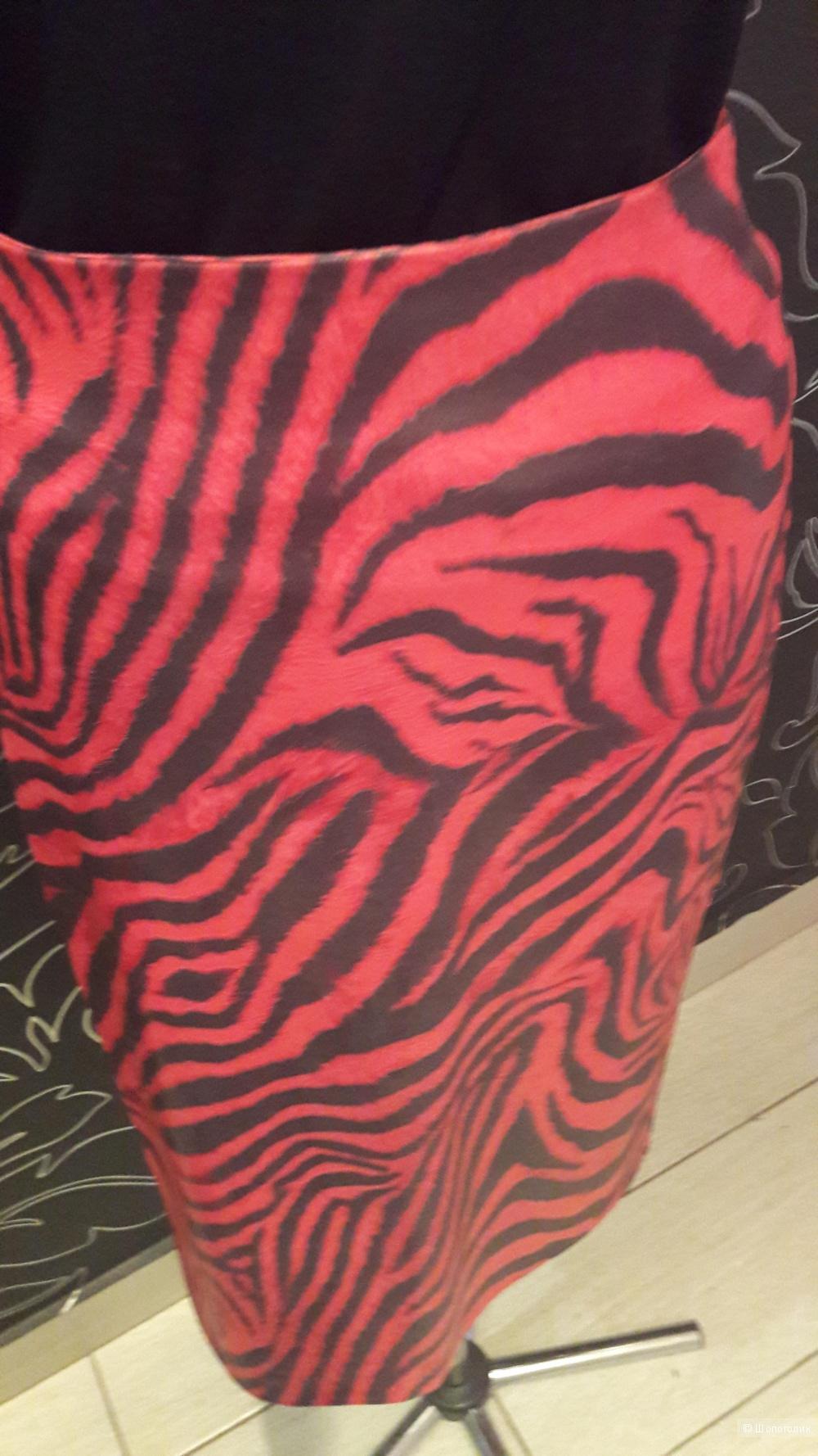 BGN: юбка-миди с тигровым принтом, 36