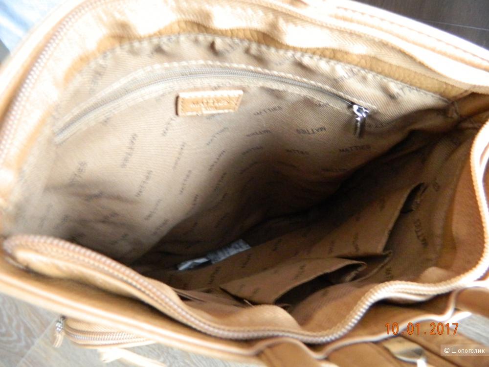 Новый кожаный рюкзак/сумка Matties