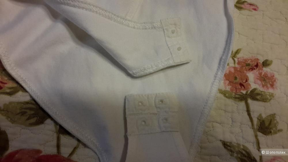 Красивое нарядное боди Apart белое размер 34 немецкий на наш 40-42