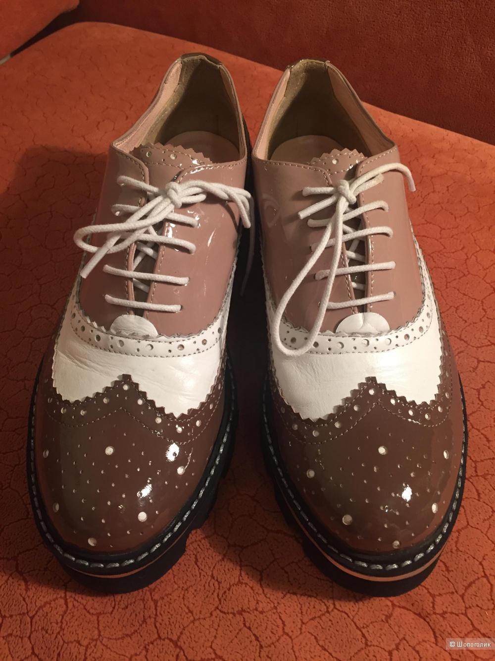 Дизайнерские ботинки-броги, размер 37-38