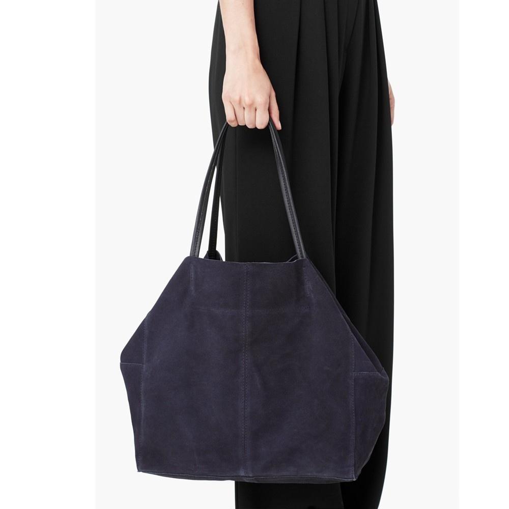 Замшевая сумка шопер Mango